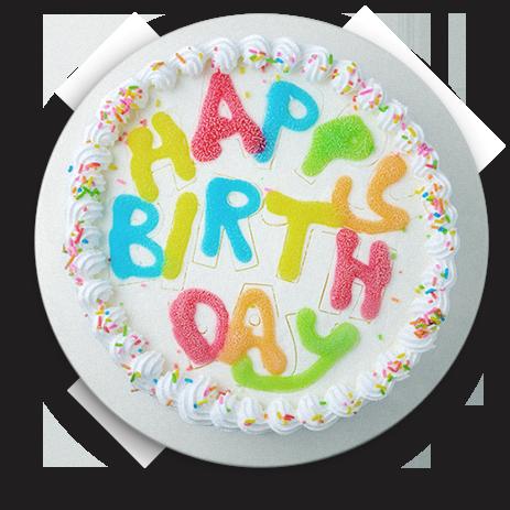birthday cake representing age